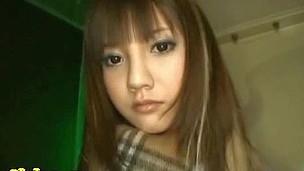 Sexy beautiful hawt long haired asian teen blowing dick deep