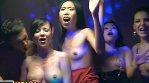 Those lecherous college chicks haven't had sex for a whilst, so they decided to get jointly for a steamy college sex party with gracious guys. From the very start it's obvious that the party's gonna be a real blast! The horny students start with...