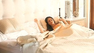 Sexy pretty chick gets moist bawdy cleft drilled with huge dick
