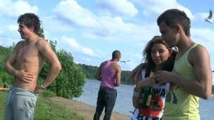 Want To watch barefaced college students fucking by the lake? Then watch this super steamy clip!