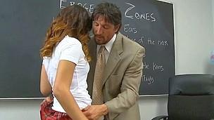 Wicked schoolgirls smack each other