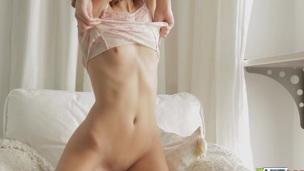 Charming angel porn clip with sexy masturbating