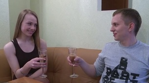 Adorable golden-haired gets fucked hard and facialized during casual teenage sex.