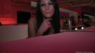 I'm back in Budapest and looking for a fuck.  I wonder in to an empty club and noticed a stunning barmaid.  I started to tell her that I was lost in Budapest and I wanted to find some interesting places to visit.I wasn't very impressed with her suggestions, so I changed the subject.  This Playgirl said me that this hottie was 26, but that hottie looked a lot younger.  I offered her 200 Euro to watch her boobs which this hottie acquiesced to very quickly. That Playgirl has a great couple of zeppelins. Not to diminutive and not to large.This Playgirl then asked to watch my dick.  I said her that I would let her watch it ,if this hottie acquiesced to jerk off me too.  I was in a short time behind..