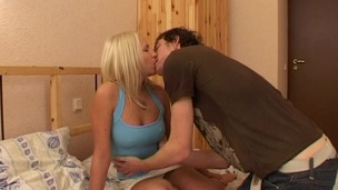 Non-professional blond shows that that sweetheart likes to be on top during sex