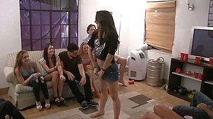 Crazy college sex party with young nubiles that are cock crazy