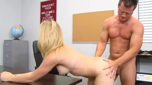 Strong guy fills constricted fuckholes of a reluctant schoolgirl