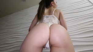 Sexy chick with huge wazoo is getting rammed really hard